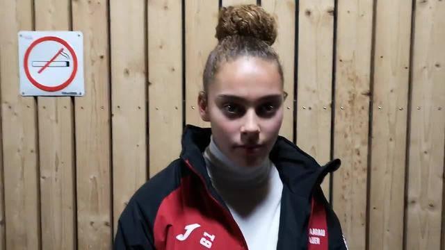 Vierfachtorschützin Alayah Pilgrim nach dem 4:2-Sieg der Aarauerinnen im Interview