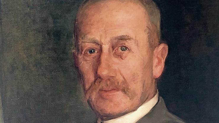 Theodor Dreifuss auf einem Ölgemälde (in Privatbesitz).