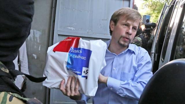 Jewgeni Urlaschow bei seiner Festnahme in Jaroslawl (Archiv)