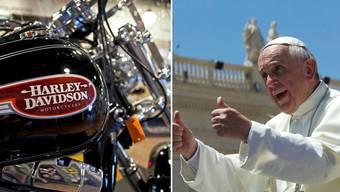 Papst Franziskus geht unter die Biker