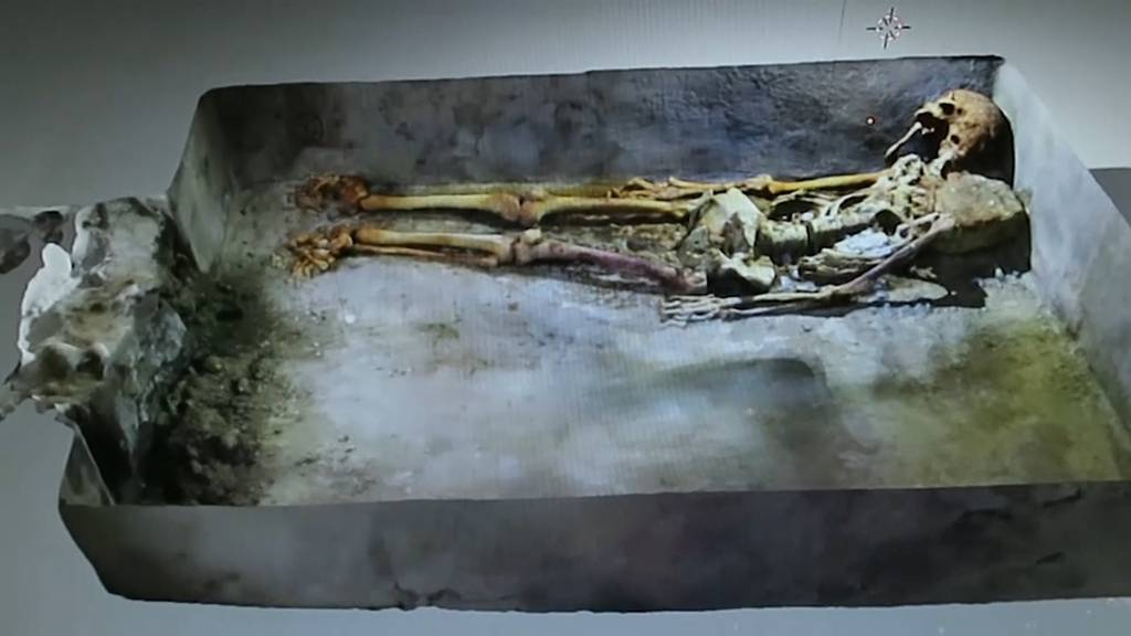 Süditalien: Seltener Grabfund in versunkener Stadt Pompeji