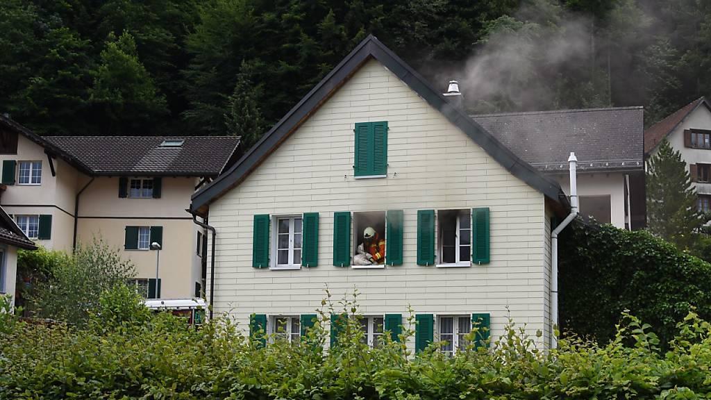 Brand in Einfamilienhaus in Pfäfers SG wegen Kerze