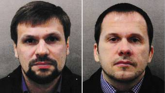 Diese beiden Männer wurden schon enttarnt: Anatoli Tschepiga (links) ist hochrangiger Militäroberst und Alexander Jewgeniwitsch Mischkin ist Militärarzt des russischen Geheimdiensts GRU.