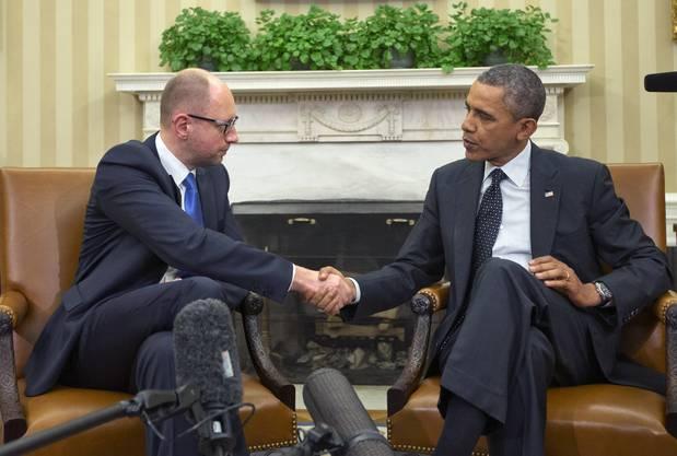 Obama versicherte Jazenjuk den Beistand der Amerikaner.
