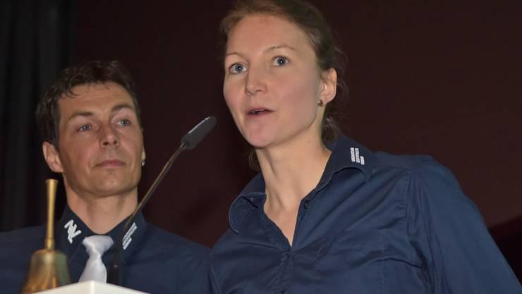 ALV-Präsident Christian Winter (l.) und die Technische Leiterin Melanie Brunner hielten Rückblick auf das ereignisreiche Jubiläumsjahr.
