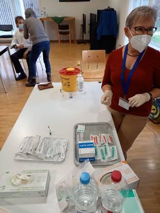 In Grenchen liessen sich rund ein Drittel des Pflegepersonal und rund zwei Drittel der Bewohnenden impfen.