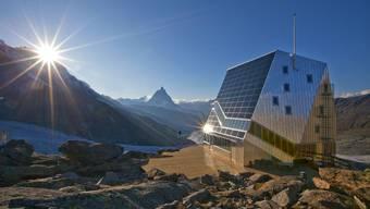 Hütte war gestern: Das SAC-Haus auf dem Monte Rosa ist ein architektonisches Juwel.
