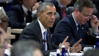 Barack Obama (Mitte) warnt vor den Gefahren von nuklearen Substanzen in den Händen von Dschihadisten.