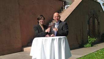 Pächterpaar: Franziska und Bernard Raemy wirten seit letztem Sommer auf dem Binninger Schloss.