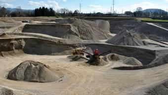 Im Gebiet Untere Rütenen betreibt die Holcim AG bereits eine Kiesgrube. Nun plant sie eine weitere Grube sowie ein Kieswerk.