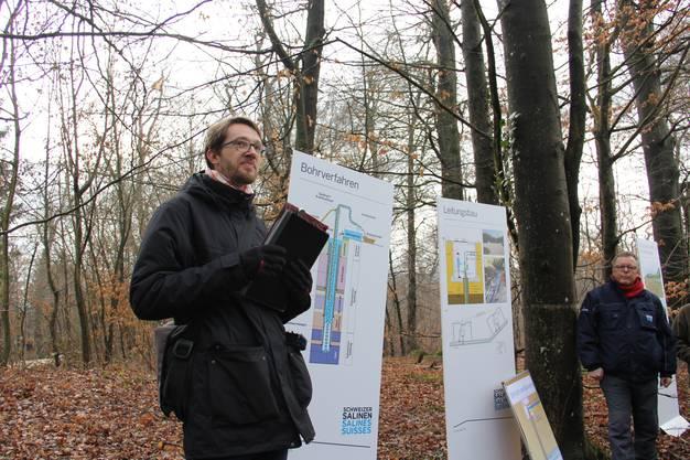 Geologe Johannes Pietsch begleitet die Bohrungen für die Schweizer Salinen