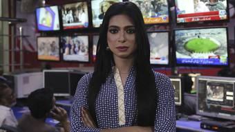 Marvia Malik ist die erste Transgender-Nachrichtensprecherin in Pakistan.