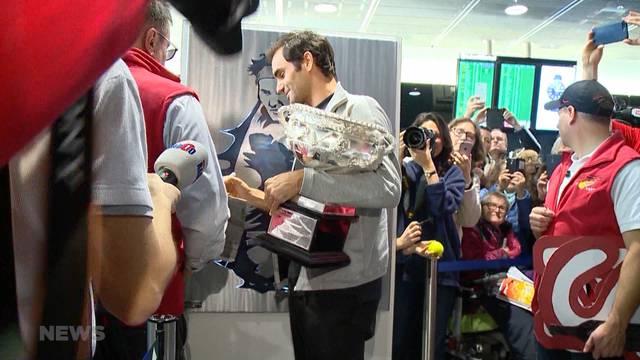 Roger Federer zum Greifen nah