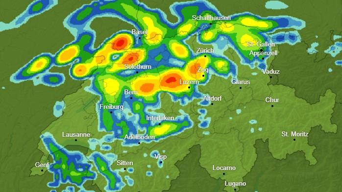Bund warnt vor heftigen Gewittern, Hagel und Starkregen
