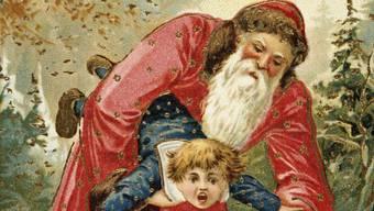 Der freche Goof kam früher noch in den Sack. Heute getrauen sich viele Chläuse nicht mal mehr, die Kinder auf den Schoss zu nehmen.