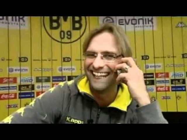 So schön wars mit Klopp Teil II: Der BVB-Coach und der WDR-Sportmorderator Arnd Zeigler waren ein Dreamteam.