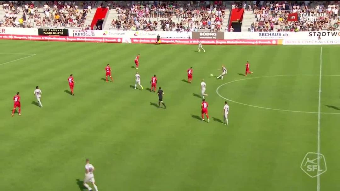 Challenge League, 2019/20, 1. Runde, FC Winterthur - FC Aarau, 29. Minute: Tor von Mats Hammerich.