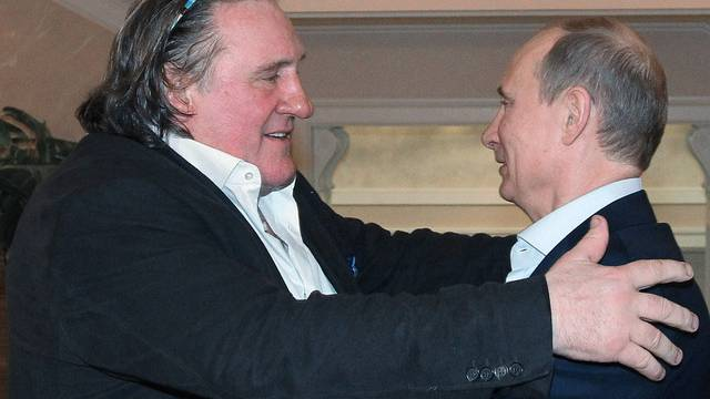 Ein Herz und eine Seele: Gérard Depardieu (l) und Wladimir Putin