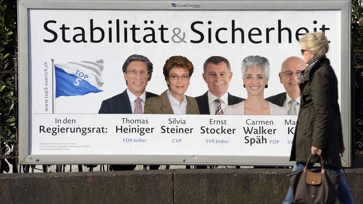 Die bürgerlichen Parteien gehen als Sieger, die Grünen als Verlierer aus den Zürcher Wahlen 2015 hervor.