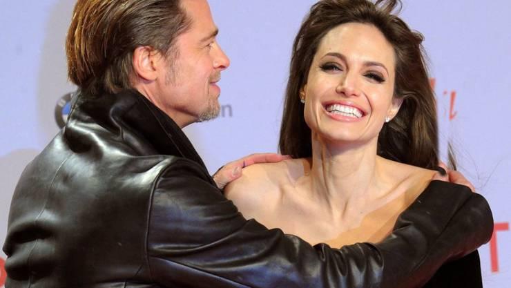 Ein Herz und eine Seele: Brad Pitt und Angelina Jolie halten auch in den schwierigsten Zeiten zusammen (Archiv).