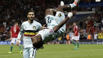 Belgiens Joker Michy Batshuayi zelebriert seinen Treffer zum 2:0