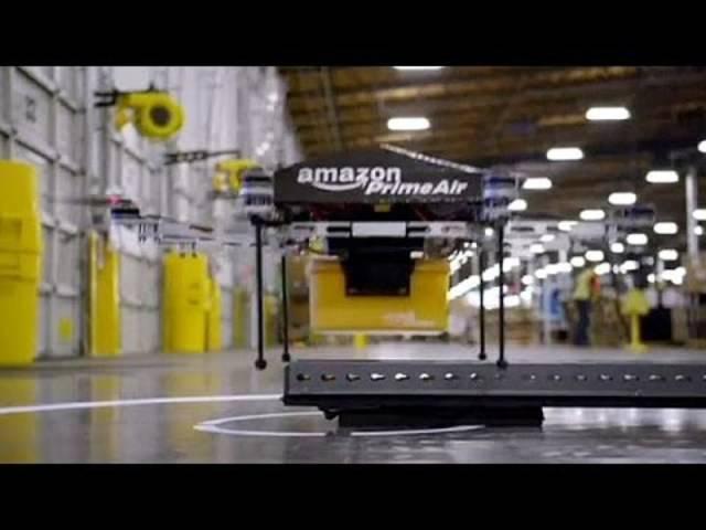 «Prime Air»: Amazon will schon bald Drohnen zur Paket-Auslieferung nutzen. Lanciert hat der Online-Händler das Projekt bereits im Dezember 2013.