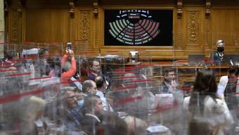 Der Nationalratssaal im Bundeshaus.