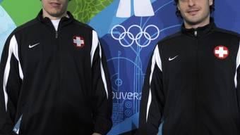 Jonas Hiller und Mark Streit