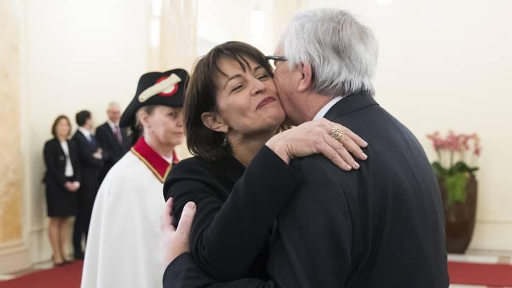 Vermeintliche Krönung ihres Präsidialjahrs: Doris Leuthard empfängt Jean-Claude Juncker am 23. November in Bern.