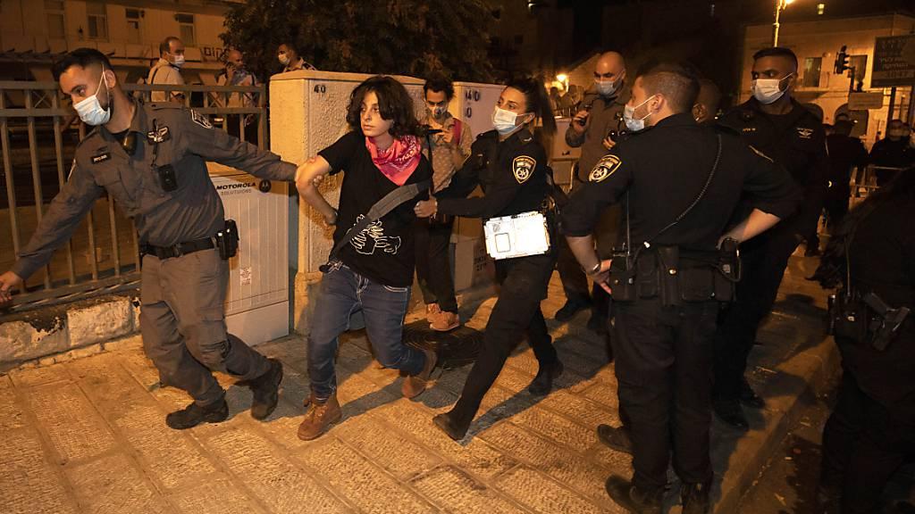 11 Festnahmen bei Demonstration gegen Netanjahu