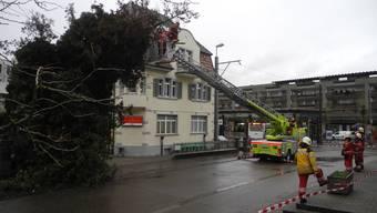 Allein der Sturm «Burglind» kostete die Gebäudeversicherung des Kantons Zürich rund 15 Millionen Franken. Er sorgte auch in Dietikon (Bild) für Schäden.