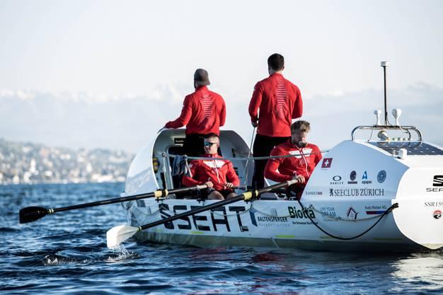 Das Swiss-Mocean-Team auf ihrer Reise über den Atlantik.