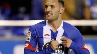 Mittelfeldspieler Lucas Perez war der Mann des Spiels bei La Coruna