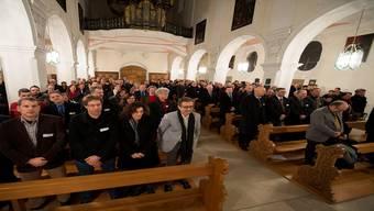 Feierlicher Moment: Gemeinderäte der Amtsperiode 2014/2017 werden in die Pflicht genommen.Alex Spichale