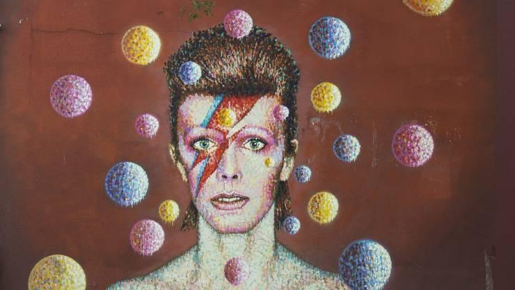 Ein Wandbild von David Bowie in Süd-London.