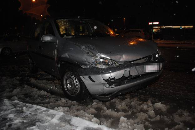 Bei diesem Unfall in Grenchen entstand ein Blechschaden.
