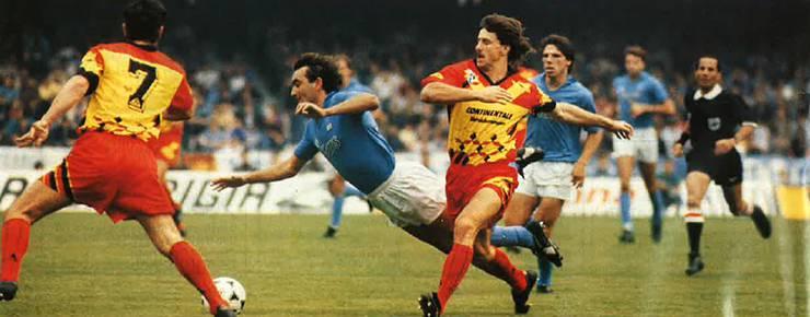 75. Minute: Mauro fällt im Strafraum, versenkt danach den Penalty zum 2:1 für Napoli. Dabei bleibt es, Wettingen scheidet knapp aus.