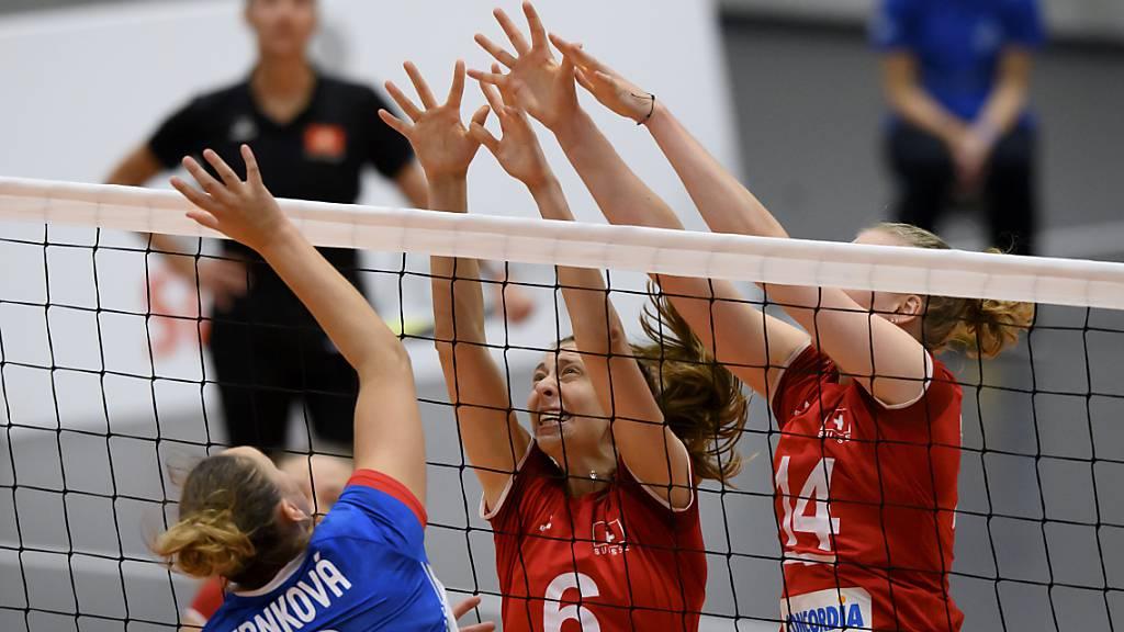 Trotz gutem Beginn verpassten die Schweizer Volleyballerinnen an der EM den angestrebten zweiten Sieg