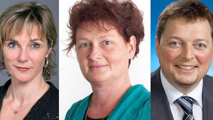 Maja Graf, Claudia Brodbeck und Rolf Richterich (v.l.)