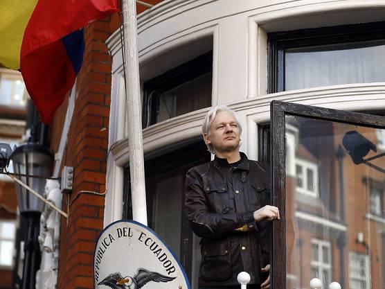 Seit Jahren musste Julian Assange in der Botschaft von Ecuador in London ausharren. Aufgenommen am 19. Mai 2017