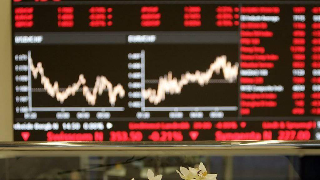 An der Schweizer Börse geht es nach einer Verschnaufpause wieder abwärts. (Archiv)