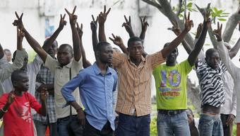Anhänger des Oppositionsführers Etienne Tshisekedis protestieren gegen den mutmasslichen Wahlbetrug (Archiv)