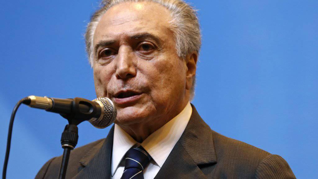 Michel Temer ist neuer Präsident Brasiliens. (Archivbild)