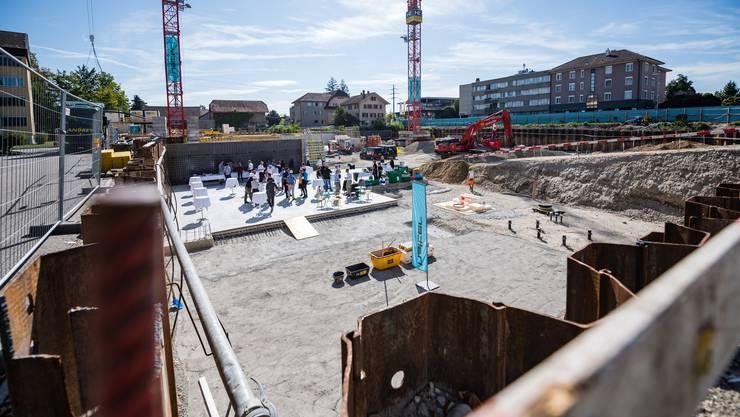 Grundsteinlegung für den Dorfhof in Biberist am Dienstag, 17. September 2019