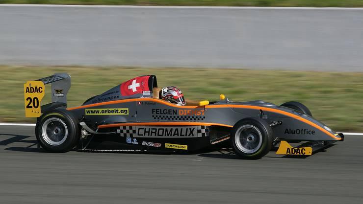 Jeffrey Schmidt in seinem Formel-Masters-Boliden