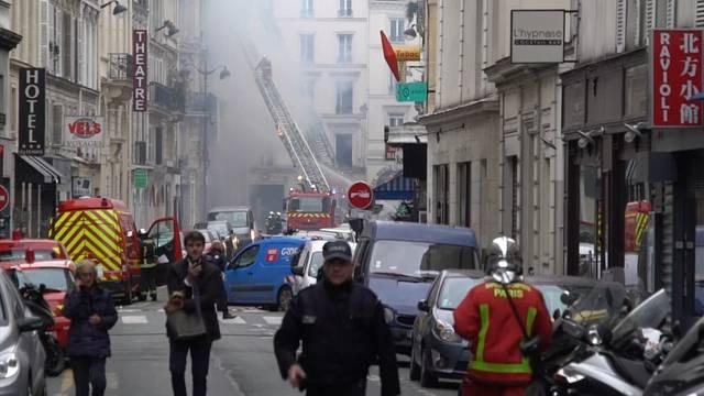 Explosion in Pariser Innenstadt