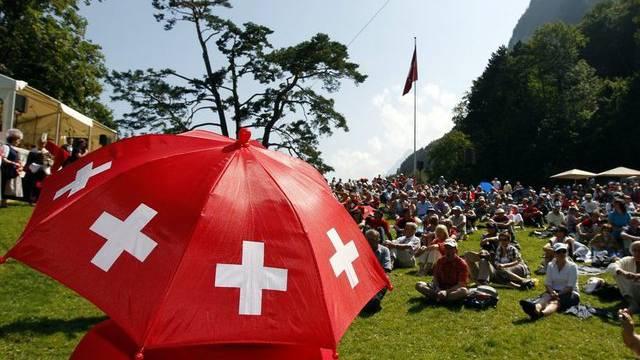 1.-August-Feier auf dem Rütli (Archiv)