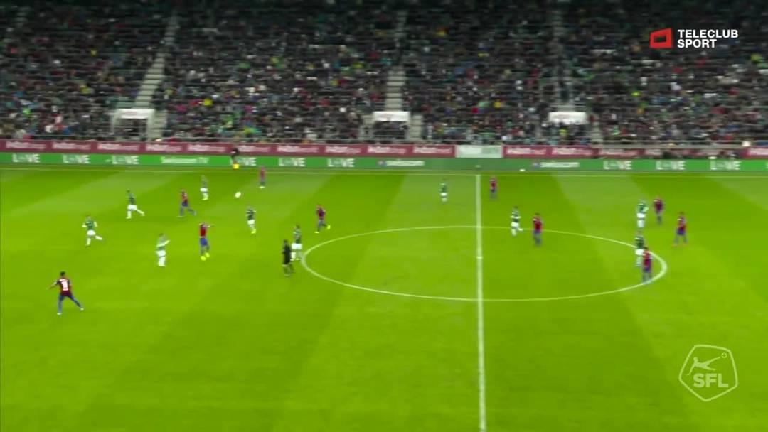 FC St.Gallen - FC Basel: Noah Okafor, 93. Minute (6.10.19)
