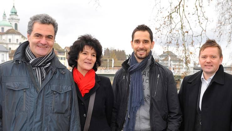 Die Macher des Weihnachtsmarktes (v.l.): Kurt und Ursula Steiner, Martin Tschumi und Thomas Schärer.