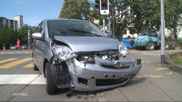 Autounfall zwischen Senioren